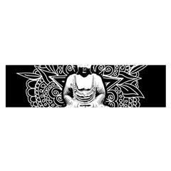 Ornate Buddha Satin Scarf (oblong) by Valentinaart