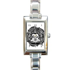 Ornate Buddha Rectangle Italian Charm Watch by Valentinaart