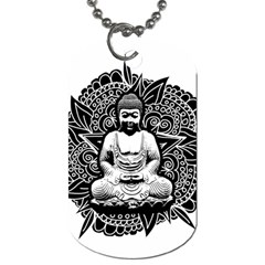Ornate Buddha Dog Tag (two Sides) by Valentinaart