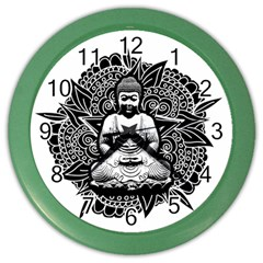 Ornate Buddha Color Wall Clocks by Valentinaart