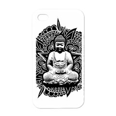 Ornate Buddha Apple Iphone 4 Case (white) by Valentinaart