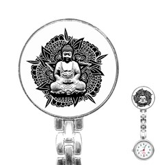 Ornate Buddha Stainless Steel Nurses Watch by Valentinaart