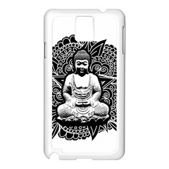 Ornate Buddha Samsung Galaxy Note 3 N9005 Case (white) by Valentinaart