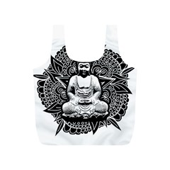 Ornate Buddha Full Print Recycle Bags (s)  by Valentinaart