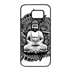 Ornate Buddha Samsung Galaxy S7 Edge Black Seamless Case by Valentinaart