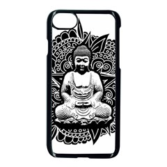 Ornate Buddha Apple Iphone 7 Seamless Case (black) by Valentinaart