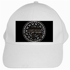 Ornate Mandala Elephant  White Cap by Valentinaart