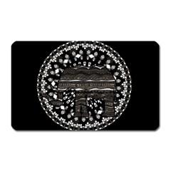 Ornate Mandala Elephant  Magnet (rectangular) by Valentinaart