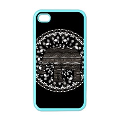 Ornate Mandala Elephant  Apple Iphone 4 Case (color) by Valentinaart
