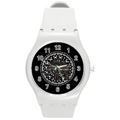 Ornate Mandala Elephant  Round Plastic Sport Watch (m) by Valentinaart