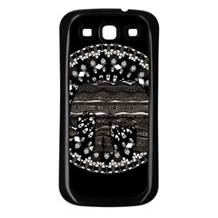Ornate Mandala Elephant  Samsung Galaxy S3 Back Case (black) by Valentinaart