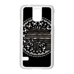 Ornate Mandala Elephant  Samsung Galaxy S5 Case (white) by Valentinaart