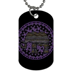 Ornate Mandala Elephant  Dog Tag (one Side) by Valentinaart