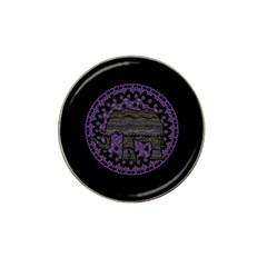 Ornate Mandala Elephant  Hat Clip Ball Marker (10 Pack) by Valentinaart