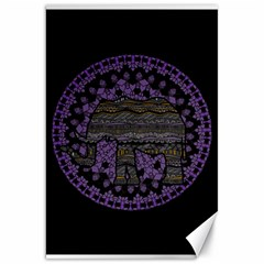 Ornate Mandala Elephant  Canvas 20  X 30   by Valentinaart