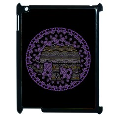 Ornate Mandala Elephant  Apple Ipad 2 Case (black) by Valentinaart