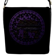 Ornate Mandala Elephant  Flap Messenger Bag (s) by Valentinaart