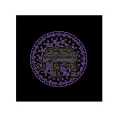 Ornate Mandala Elephant  Small Satin Scarf (square) by Valentinaart