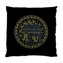 Ornate Mandala Elephant  Standard Cushion Case (one Side) by Valentinaart
