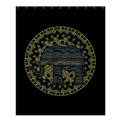 Ornate Mandala Elephant  Shower Curtain 60  X 72  (medium)  by Valentinaart