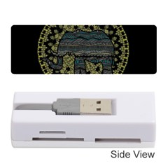 Ornate Mandala Elephant  Memory Card Reader (stick)  by Valentinaart