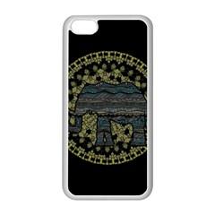 Ornate Mandala Elephant  Apple Iphone 5c Seamless Case (white) by Valentinaart