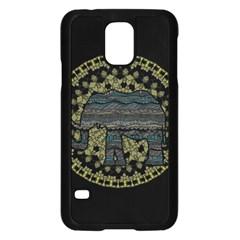 Ornate Mandala Elephant  Samsung Galaxy S5 Case (black)