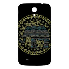 Ornate Mandala Elephant  Samsung Galaxy Mega I9200 Hardshell Back Case by Valentinaart