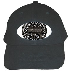 Ornate Mandala Elephant  Black Cap by Valentinaart