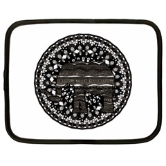 Ornate Mandala Elephant  Netbook Case (xl)  by Valentinaart