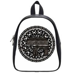Ornate mandala elephant  School Bags (Small)  by Valentinaart
