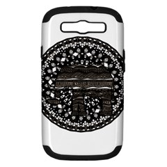 Ornate Mandala Elephant  Samsung Galaxy S Iii Hardshell Case (pc+silicone) by Valentinaart