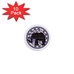 Ornate Mandala Elephant  1  Mini Buttons (10 Pack)  by Valentinaart