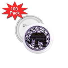 Ornate Mandala Elephant  1 75  Buttons (100 Pack)  by Valentinaart