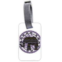 Ornate Mandala Elephant  Luggage Tags (one Side)  by Valentinaart