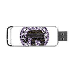 Ornate Mandala Elephant  Portable Usb Flash (two Sides) by Valentinaart