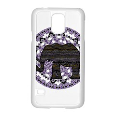 Ornate Mandala Elephant  Samsung Galaxy S5 Case (white) by Valentinaart