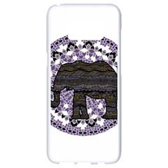 Ornate Mandala Elephant  Samsung Galaxy S8 White Seamless Case by Valentinaart