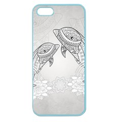 Beautiful Dolphin, Mandala Design Apple Seamless Iphone 5 Case (color) by FantasyWorld7