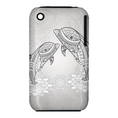 Beautiful Dolphin, Mandala Design Iphone 3s/3gs by FantasyWorld7