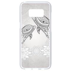 Beautiful Dolphin, Mandala Design Samsung Galaxy S8 White Seamless Case by FantasyWorld7