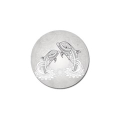 Beautiful Dolphin, Mandala Design Golf Ball Marker (4 Pack) by FantasyWorld7