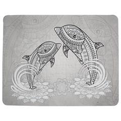 Beautiful Dolphin, Mandala Design Jigsaw Puzzle Photo Stand (rectangular) by FantasyWorld7
