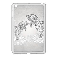 Beautiful Dolphin, Mandala Design Apple Ipad Mini Case (white) by FantasyWorld7