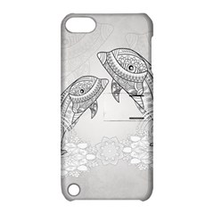Beautiful Dolphin, Mandala Design Apple Ipod Touch 5 Hardshell Case With Stand by FantasyWorld7