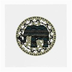 Ornate Mandala Elephant  Medium Glasses Cloth by Valentinaart
