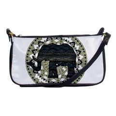 Ornate Mandala Elephant  Shoulder Clutch Bags by Valentinaart