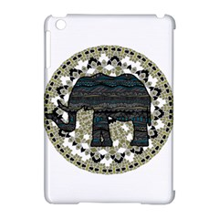 Ornate Mandala Elephant  Apple Ipad Mini Hardshell Case (compatible With Smart Cover) by Valentinaart
