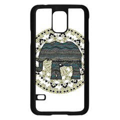 Ornate Mandala Elephant  Samsung Galaxy S5 Case (black) by Valentinaart