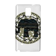Ornate Mandala Elephant  Samsung Galaxy Note 4 Hardshell Case by Valentinaart